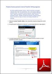 Upute za prijenos licence u PDF-u