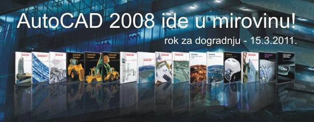 Umirovljenje Autodeskovih verzija 2008
