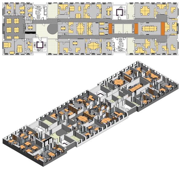 Revit, model cijele etaže