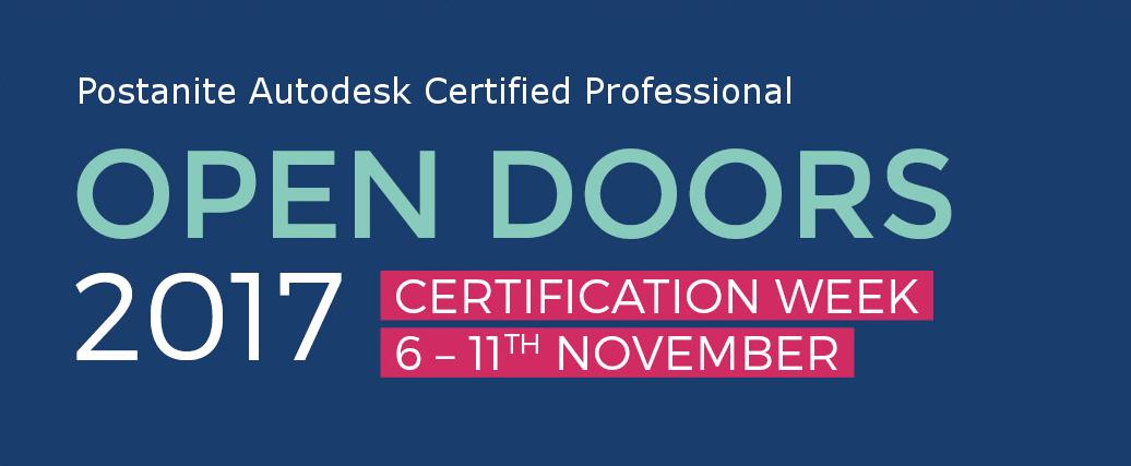 Postanite Autodesk Certified Professional: Tjedan otvorenih vrata 6.11.2017 - 11.11.2017
