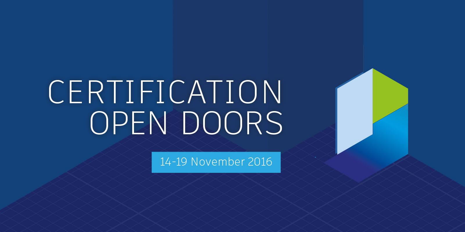 Certification Open Doors 2016