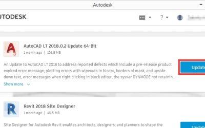 Uputa za provjeru verzije AutoCAD aplikacije te instaliranje zakrpe 2018.0.2