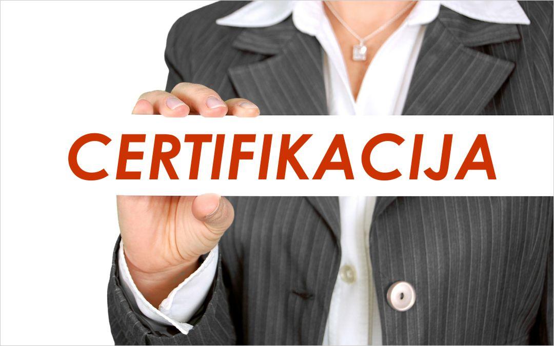 Certifikacija - polaganje ispita (online)