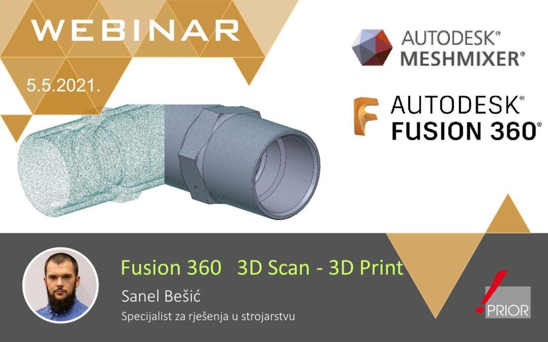 Fusion 360: Od 3D skena do 3D printa