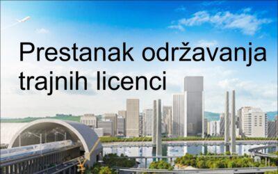 Prestanak održavanja trajnih licenci