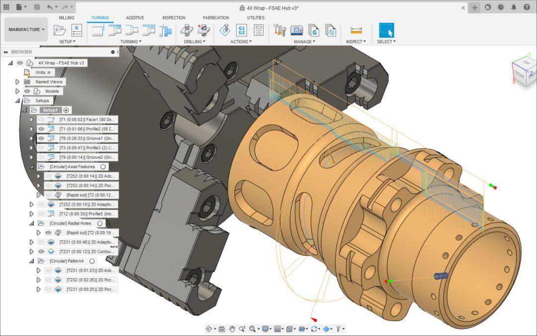 Fusion 360 CAM - Tokarenje (online)