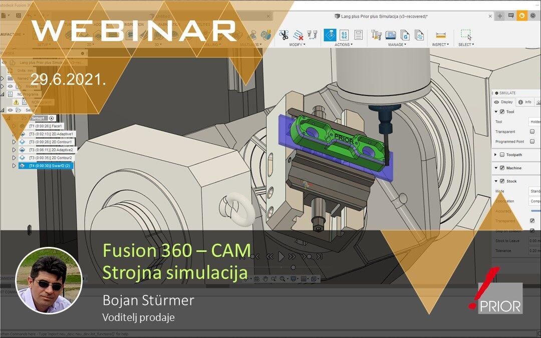 Fusion 360 CAM - Strojna simulacija